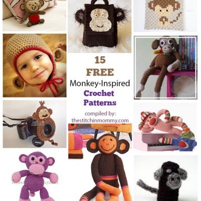 15 Free Adorable Monkey-Inspired Crochet Patterns
