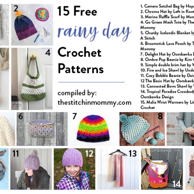 15 Free Rainy Day Crochet Patterns
