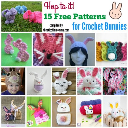 15 Free Patterns for Crochet Bunnies | www.thestitchinmommy.com #Easter #bunnies #crochet
