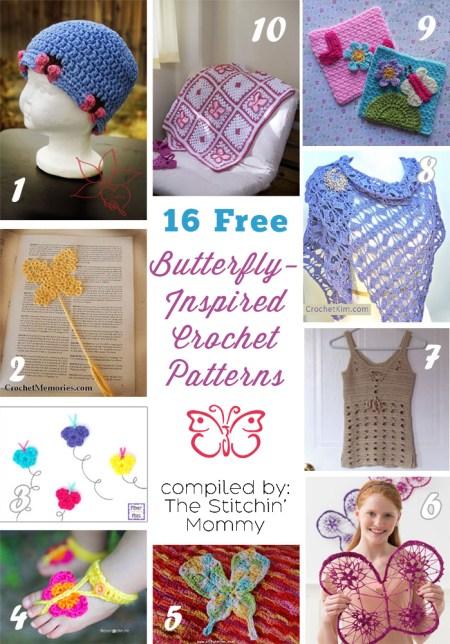 16 Free Butterfly Crochet Patterns 1