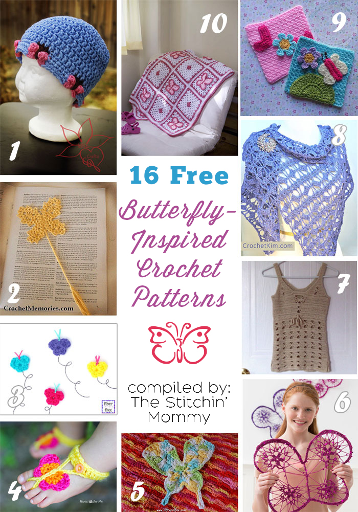 16 Free Butterfly Crochet Patterns 1