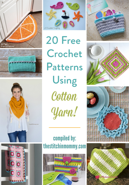 20 Free Crochet Patterns Using Cotton Yarn The Stitchin Mommy