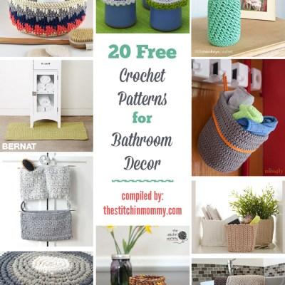 20 Free Crochet Patterns for Bathroom Decor