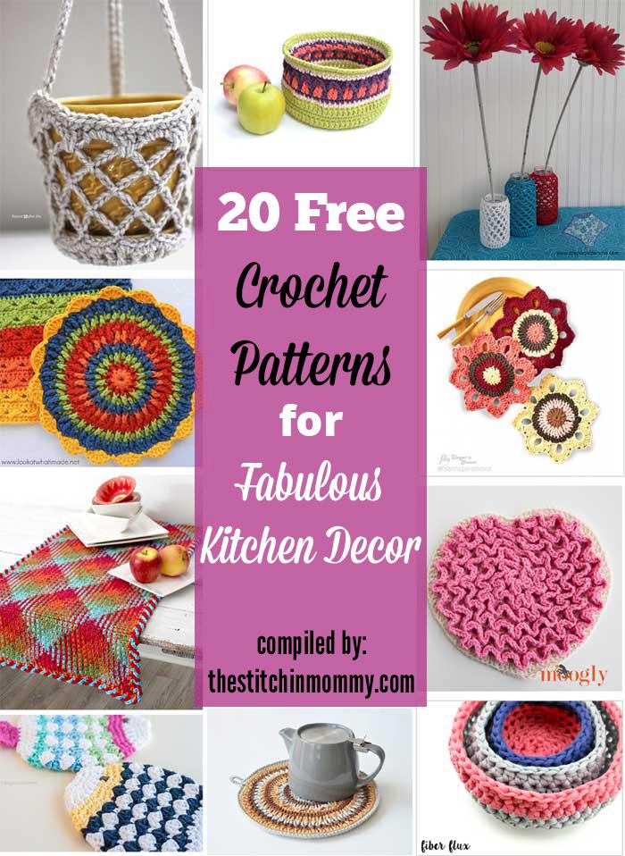 20 Free Crochet Patterns For Fabulous Kitchen Decor The Stitchin Mommy