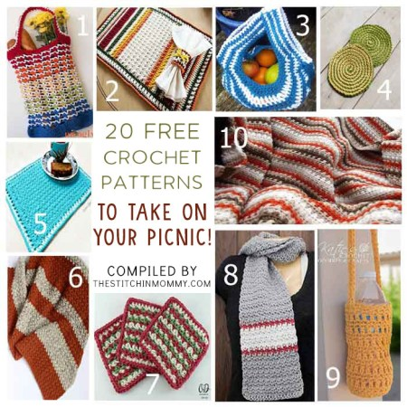 20 Free Crochet Patterns to Take on Your Picnic 1