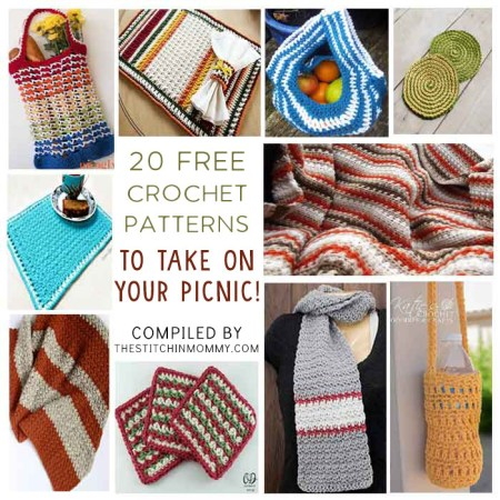 20 Free Crochet Patterns to Take on Your Picnic