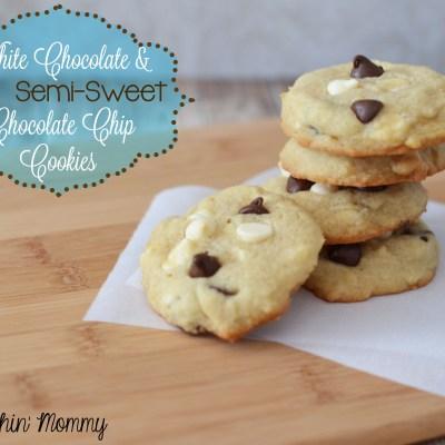 White Chocolate & Semi-Sweet Chocolate Chip Cookies