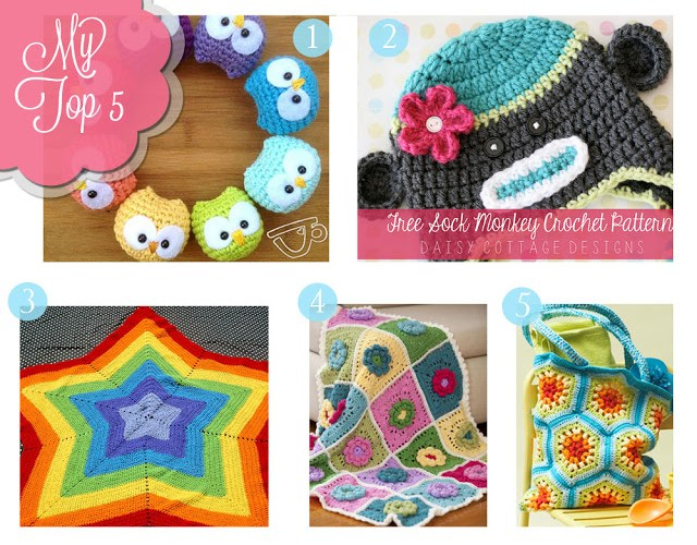 My Top Five {Free Crochet Patterns}