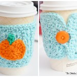 Crochet Star Stitch Pumpkin Coffee Cozy
