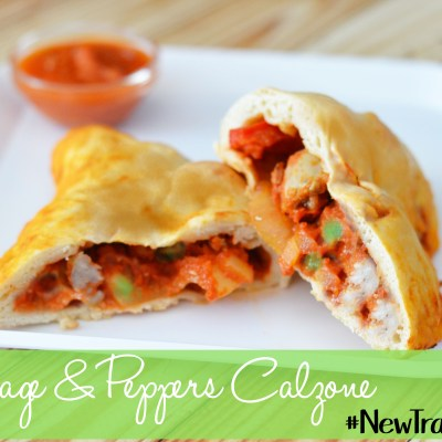 Sausage and Peppers Calzone – Ragú #NewTraDish