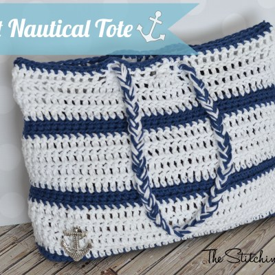 Crochet Nautical Tote