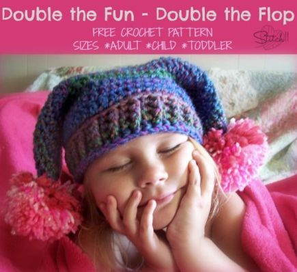 Double the Fun - Double the Flop Crochet Hat