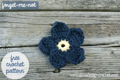 Forget Me Not Flower Free Pattern