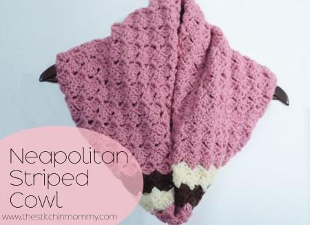 154 Crochet Wave Patterns and Neapolitan Striped Cowl www.thestitchinmommy.com