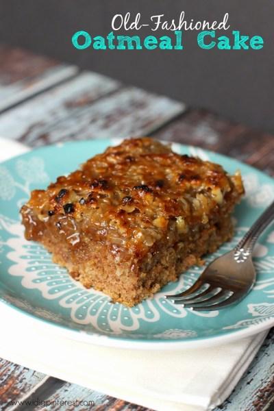 Old-Fashioned Oatmeal Cake1