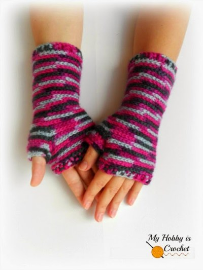#crochet fingerless gloves #freecrochetpattern #myhobbyiscrochet