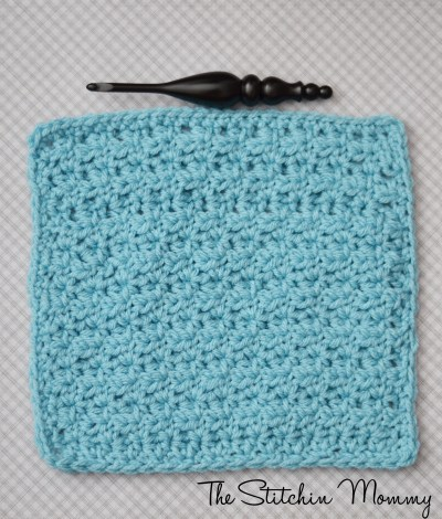 Learn a New Crochet Stitch, Half Double V Stitch Tutorial and Afghan Square Pattern