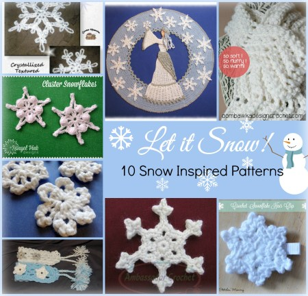 Let It Snow! 10 Snow Inspired Patterns www.thestitchinmommy.com