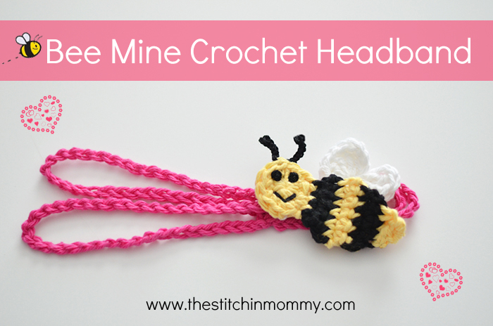 Bee Mine Crochet Headband Free Pattern