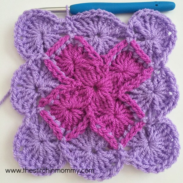 Bavarian Square Tutorial www.thestitchinmommy.com #crochet #stitch #tutorial #bavariansquare