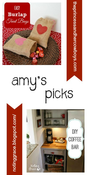 Amy's Picks |Easy Burlap Treat Bags/DIY Coffee Bar | Tuesday PIN-spiration Link Party