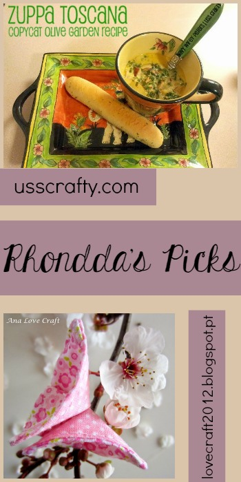Rhondda's Picks | Zuppa Toscana/Fabric Butterflies | Tuesday PIN-spiration Link Party