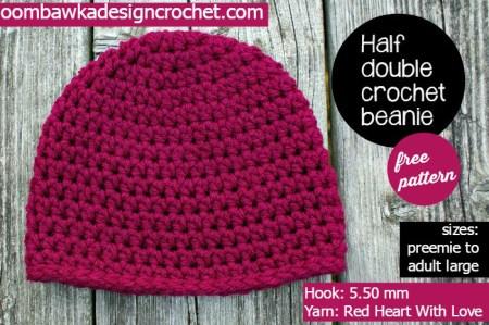 Half Double Crochet Basic Beanie