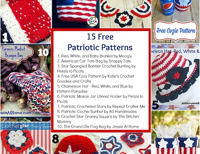 15 Free Patriotic Patterns