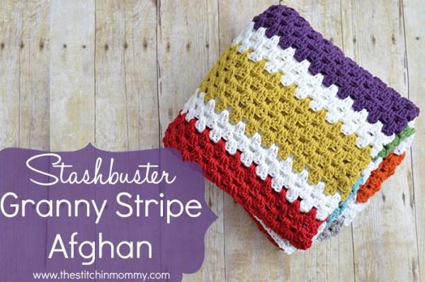 Stashbuster Granny Stripe Afghan