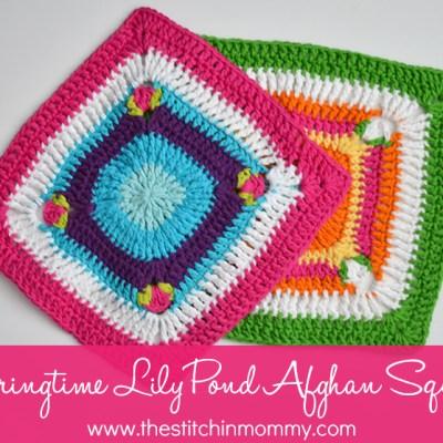 Springtime Lily Pond Afghan Square – Free Pattern
