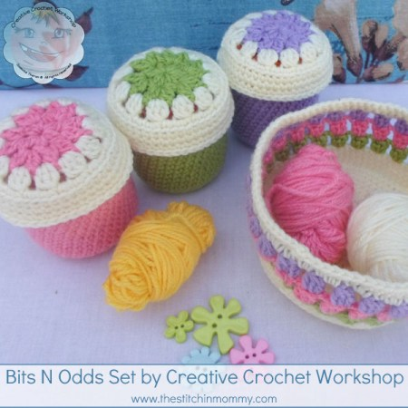 Bits N Odds Set - Free Pattern by Creative Crochet Workshop for The Stitchin' Mommy   www.thestitchinmommy.com