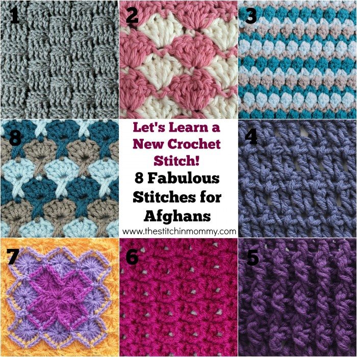 Lets Learn A New Crochet Stitch 8 Stitches For Afghans