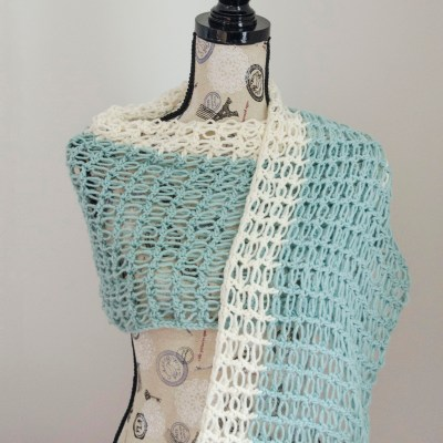 Ocean Breeze Light Summer Wrap – Guest Post on Stitch & Unwind