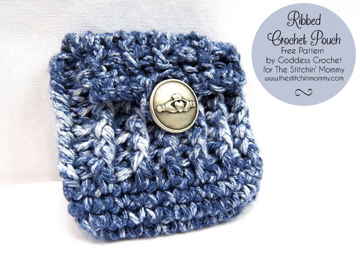 Ribbed Crochet Pouch – Free Pattern