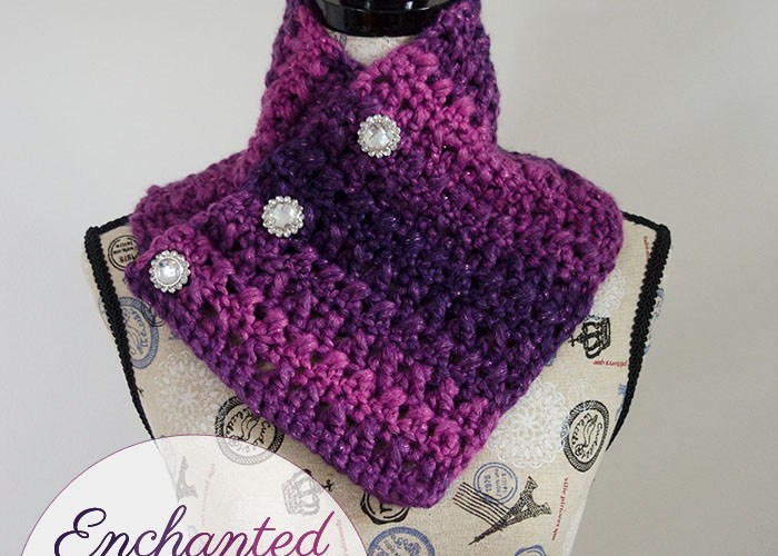 Enchanted Evening Button Cowl – Free Pattern