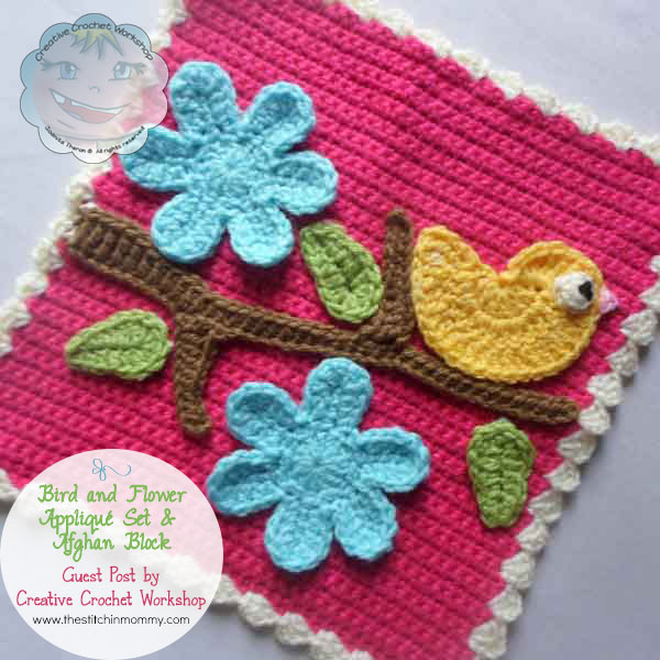 Bird and Flower Applique Set & Afghan Block - Free Pattern - The ...