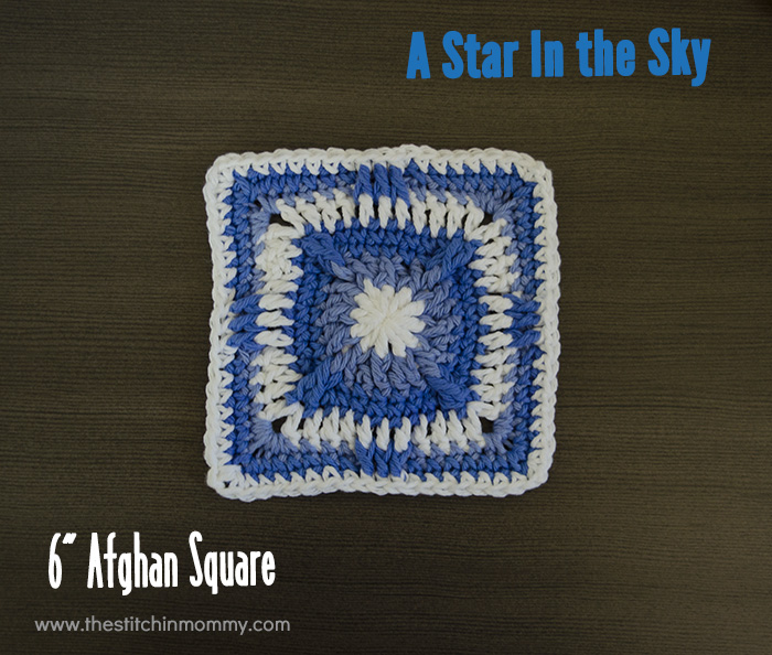 A Star in the Sky - 6 Inch Afghan Square | www.thestitchinmommy.com