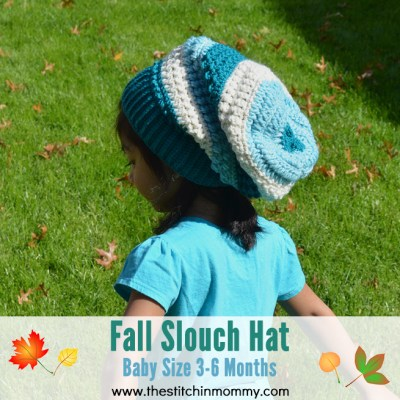 Fall Slouch Hat – Baby Size 3-6 Months