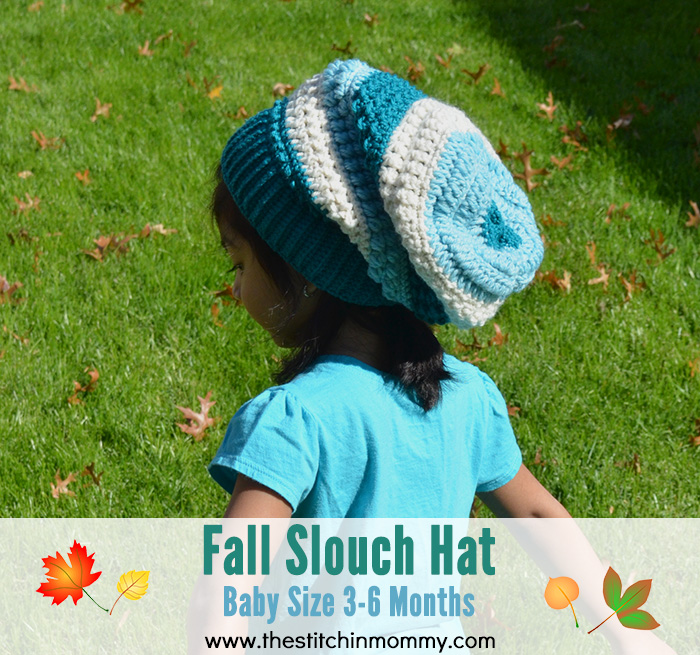 Fall Slouch Hat - Baby Size 3-6 Months | www.thestitchinmommy.com