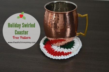 Holiday Swirled Coaster - Free Pattern | www.thestitchinmommy.com
