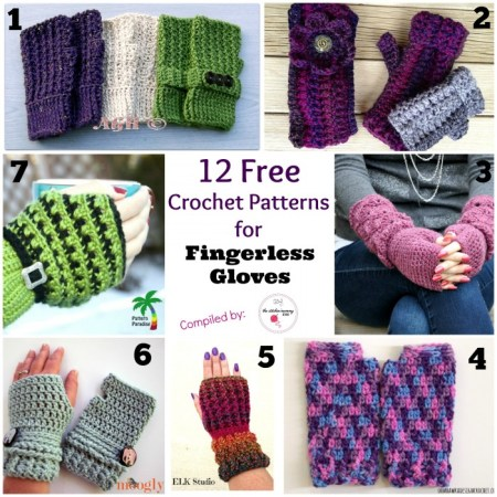 12 Free Crochet Patterns for Fingerless Gloves   www.thestitchinmommy.com