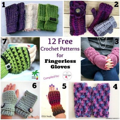 12 Free Crochet Patterns for Fingerless Gloves | www.thestitchinmommy.com