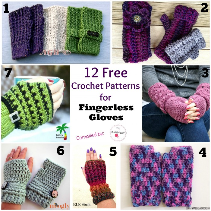 12 Free Crochet Patterns for Fingerless Gloves - The Stitchin Mommy