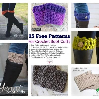 15 Free Patterns for Crochet Boot Cufffs