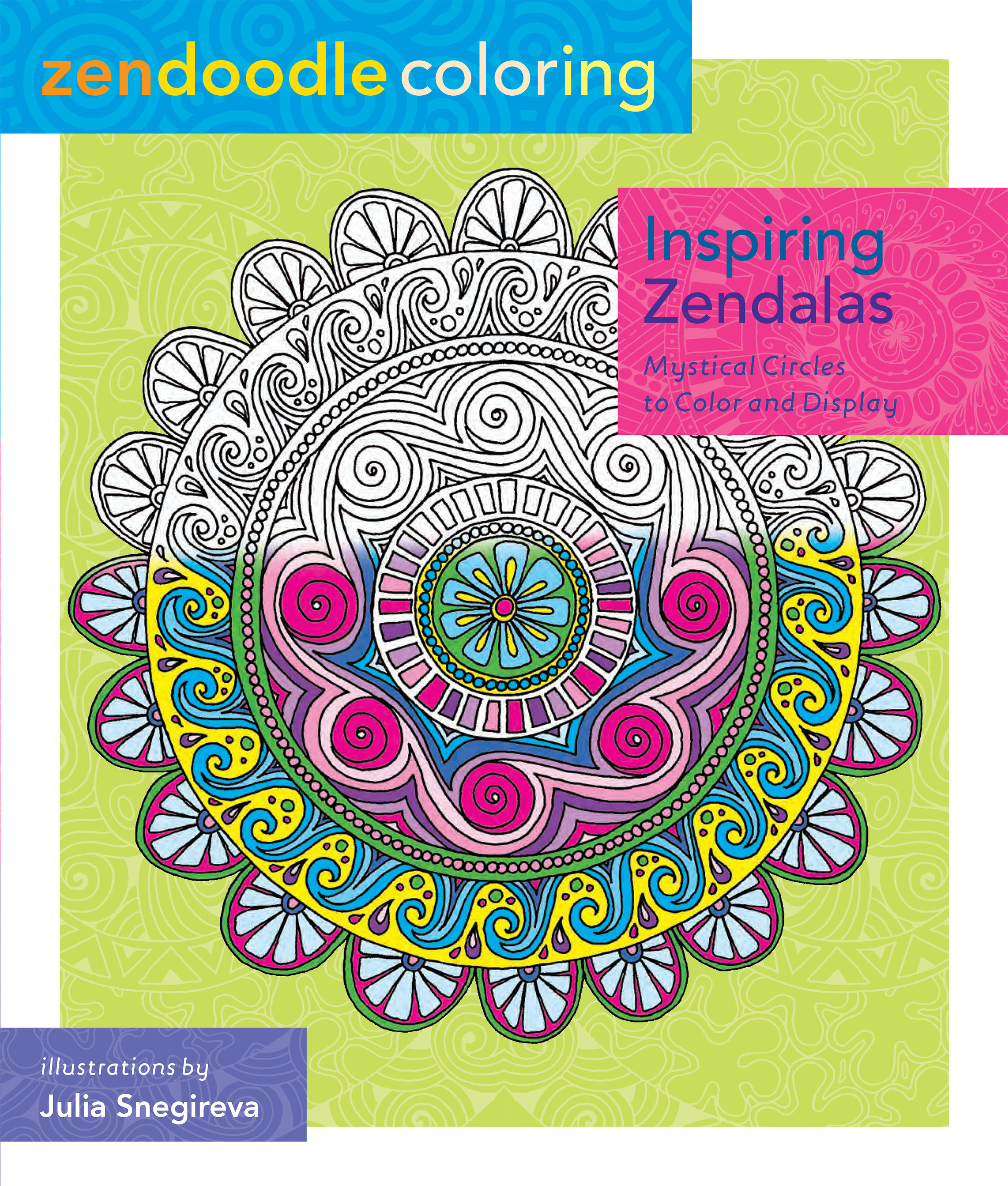 Zendoodle coloring enchanting gardens - Zendoodle Coloring Inspiring Zendalas Book Review Www Thestitchinmommy Com
