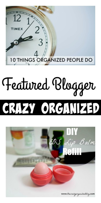 Tuesday PIN-spiration Link Party Featured Blogger - Crazy Organized | www.thestitchinmommy.com