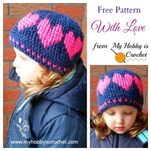 A hat With Love from My Hobby is Crochet