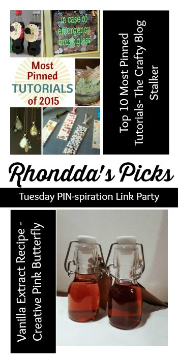 Rhondda's Picks | Top 10 Most Pinned Tutorials/Vanilla Extract Recipe| Tuesday PIN-spiration Link Party www.thestitchinmommy.com
