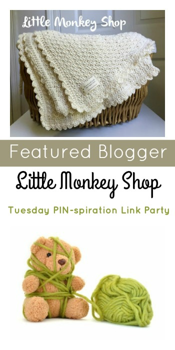 Tuesday PIN-spiration Link Party Featured Blogger - Little Monkey Shop | www.thestitchinmommy.com