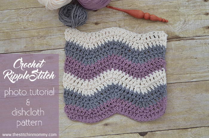 Crochet Ripple Stitch Tutorial And Dishcloth Pattern The Stitchin